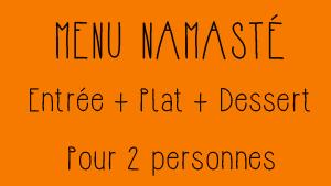 Menu Namasté Restaurant Indien Toulouse