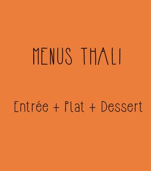 Menus Thali Restaurant Indien Toulouse
